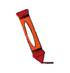 Crayon school supply icon image vector