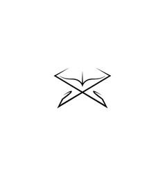 Creative quran book logo symbol vector