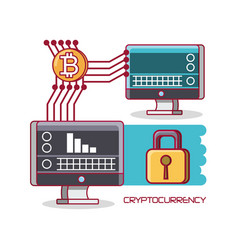 cryptocurrency exchange design vector image