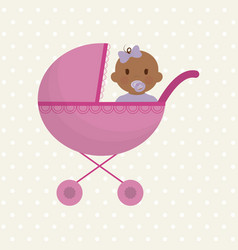 cute baby icon vector image