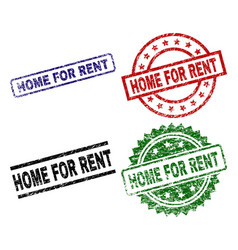 damaged textured home for rent seal stamps vector image