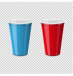 dispossable coffee cup with cardboard cover vector image