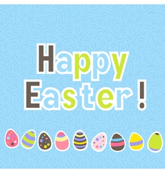 Easter colorful blue greeting card vector