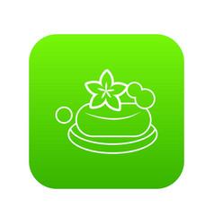 eco spa soap icon green vector image