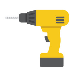 electric drill flat icon build and repair vector image