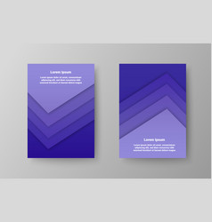 elegant trendy brochures covers vector image