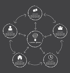 Elements of success Infographic black and white s vector image