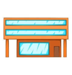 Factory icon cartoon style vector image