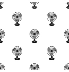 Fan icon in black style isolated on white vector