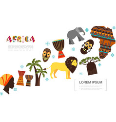 flat african traditional elements template vector image