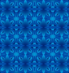 Floral pattern seamless background blue vector