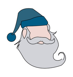 Funny face santa claus christmas celebration vector
