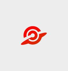Goal target aim logotype abstract start success vector