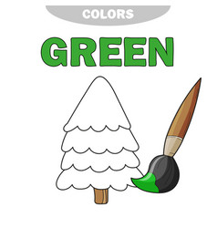 green learn the color of primary vector image