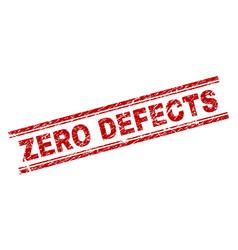 Grunge textured zero defects stamp seal vector