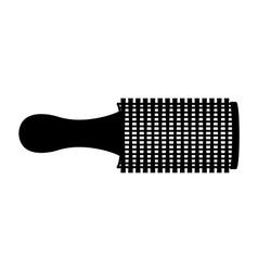 Hair brush design vector