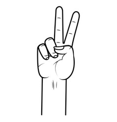 Hand peace and love vector