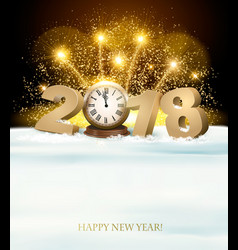 Happy new year background with 2018 and fireworks vector