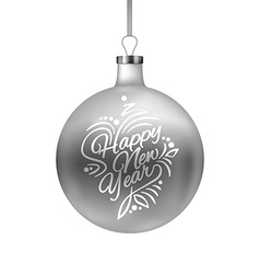 Happy New Year Christmas Bauble Background vector