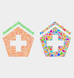 hospital mosaic icon triangles vector image