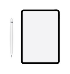 ipad pro with apple pencil vector image