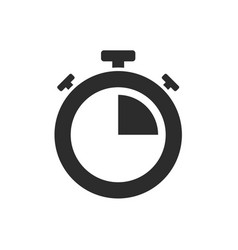 Isolated stopwatch icon quarter past on a white vector