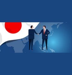 japan international partnership diplomacy vector image
