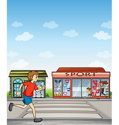 Joggers and sports outlet vector