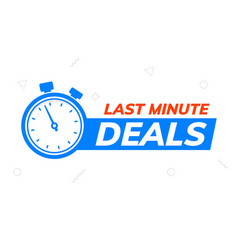 last minute deal promo banner special last minute vector image