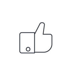 like thumb up thin line icon linear vector image