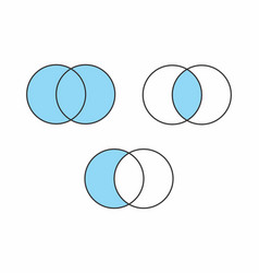 mathematical sets vector image