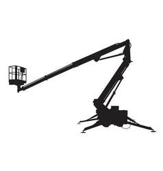 Mobile crane silhouette vector