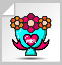 mothers day icons 4 vector image