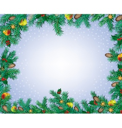 New year and christmas frame vector