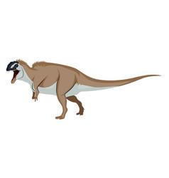 Ocanthosaurus on white background vector