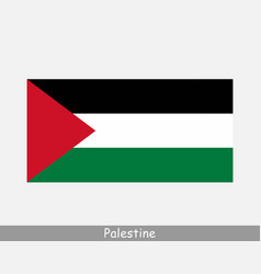 Palestine palestinian national country flag banner vector