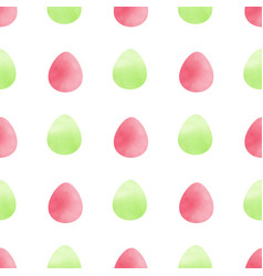 pattern with green and pink eggs vector image