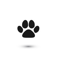 pets paw cat footprint flat icon vector image
