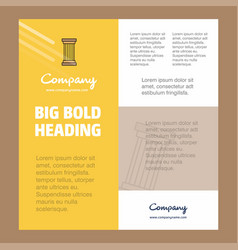 Piller business company poster template with vector
