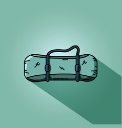 raincoat-tent rolled up into a roll camping mat vector image