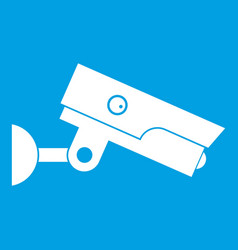 security camera icon white vector image
