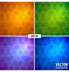 set 4 mosaic background vector image