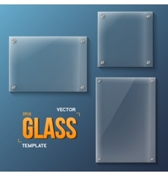 Set of Realistic Glass Frame Templates vector image