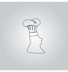 Silhouette of chef in hat vector image