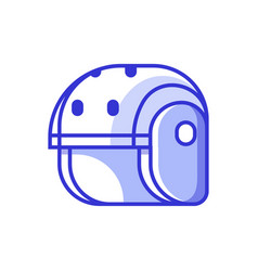 Skating and rafting helmet icon vector