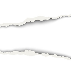snatched middle of white paper background vector image