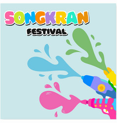 Songkran festival water gun background imag vector