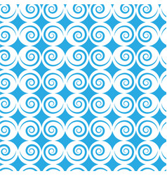 Spiral blue and white background vector