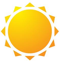 sun with corona icon simple geometric clip art vector image