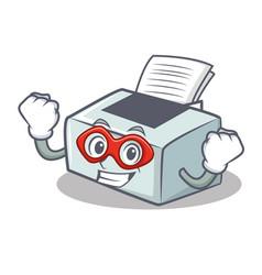 Super hero printer character cartoon style vector